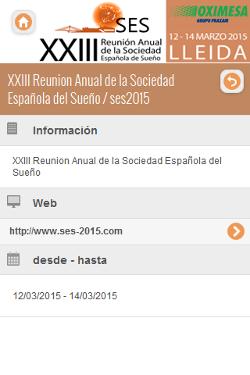 XXIII Reunion Anual de la Sociedad Española del Sueño 2