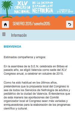 XLV CONGRESO NACIONAL DE LA SOCIEDAD ESPAÑOLA DE NEFROLOGÍA (S.E.N.) 2