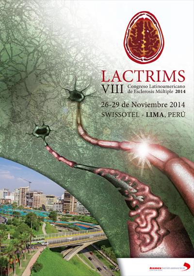 logo VIII LACTRIMS 2014 (Congreso Latinoamericano de Esclerosis Múltiple)