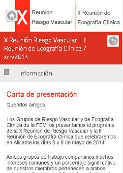 X Reunión Riesgo Vascular   II Reunión de Ecografía Clínica 2