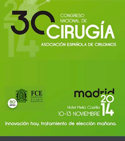 logo XXX Congreso Nacional de Cirugía de la AEC