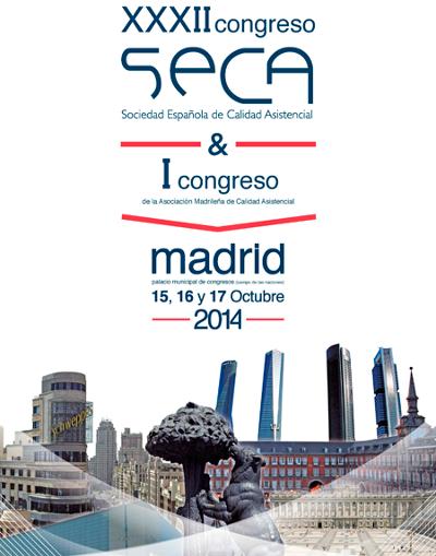 logo XXXII Congreso de la Sociedad Española de Calidad Asistencial (SECA) y I Congreso de la Asociación Madrileña de Calidad Asistencial (AMCA)