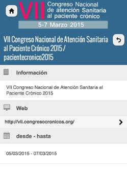VII Congreso Nacional de Atención Sanitaria al Paciente Crónico 2015 2