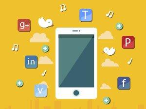 Redes sociales en las apps