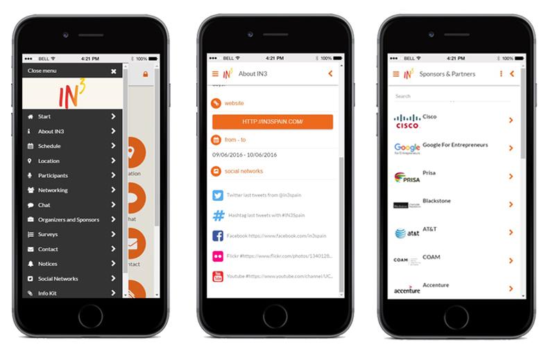 IN3, app para eventos