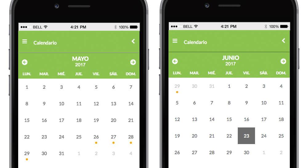 Calendario de sesiones