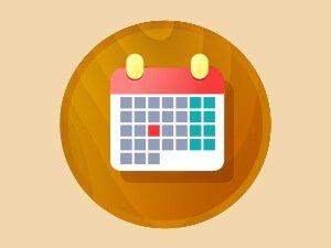 Calendario sesiones app