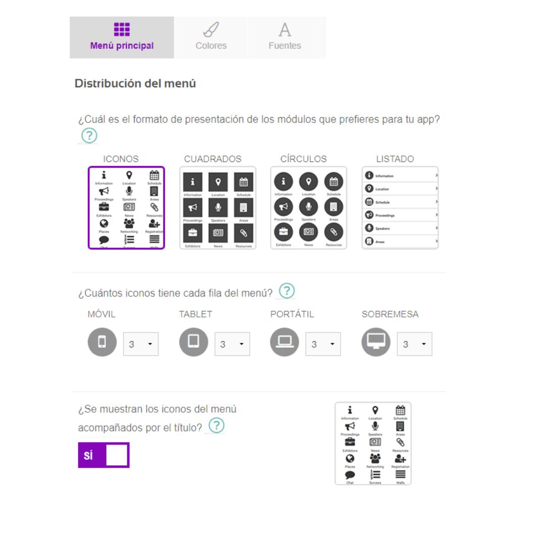 Personalizar app para eventos