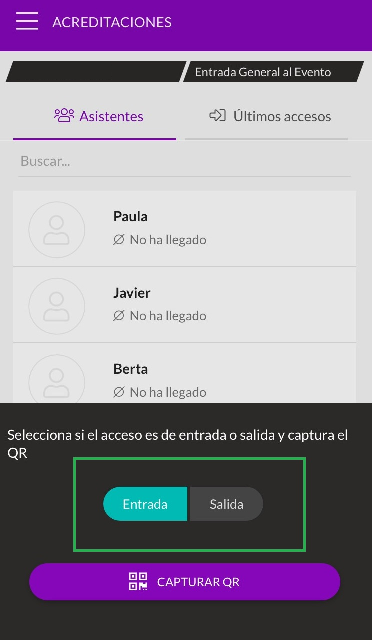 acreditaciones check in app